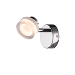 APPLIQUE LED INTEGRATO 5W BIANCO CALDO 3200K CORPO CROMATO